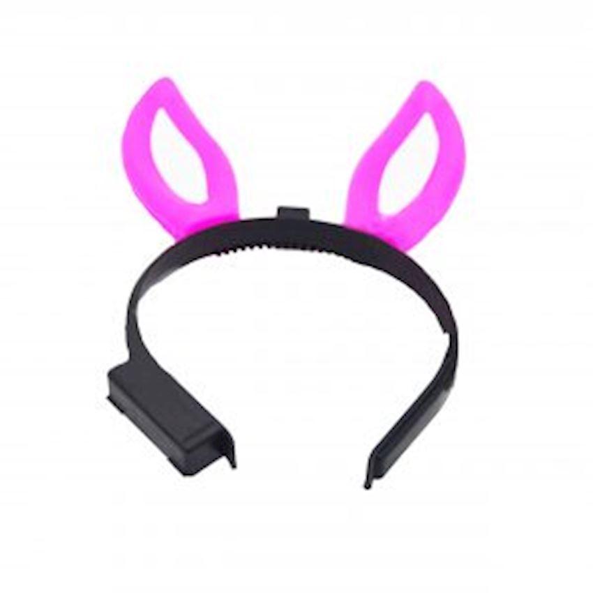 Rabbit Ears Illuminated Crown Pink Christmas Decoration Supplies