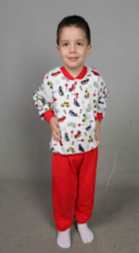 Red Bed Pajamas Set for Children