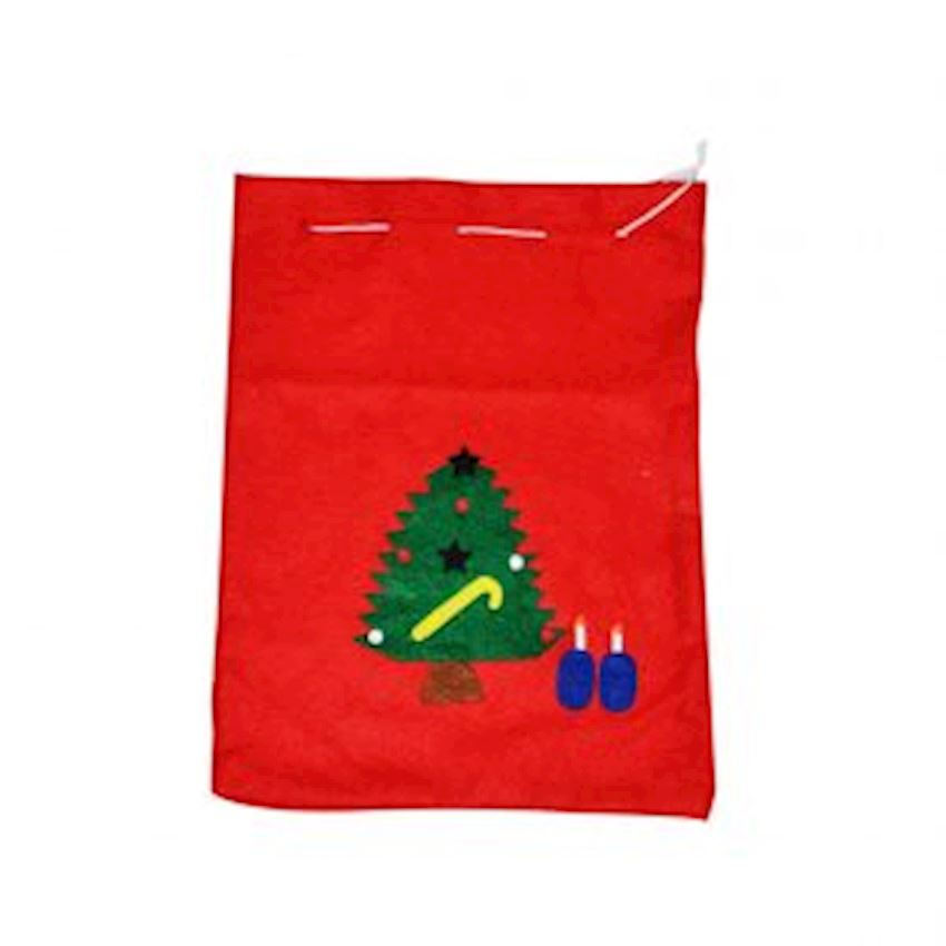 Red Felt Santa Claus Gift Sack 30cm Christmas Decoration Supplies