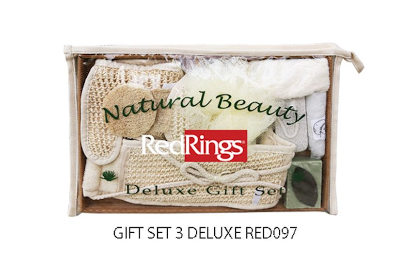 Redrings Gift Set 3 Deluxe Bath Brushes, Sponges & Scrubbers