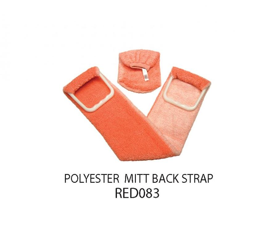 Redrings Polyester Mitt Back Strap Bath Brushes, Sponges & Scrubbers