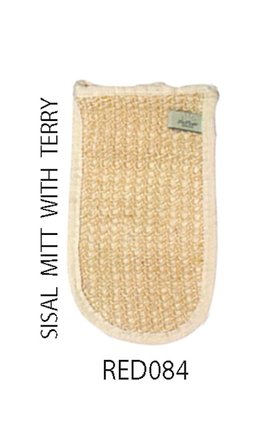 Redrings Sisal Mitt With Terry Bath Brushes, Sponges & Scrubbers
