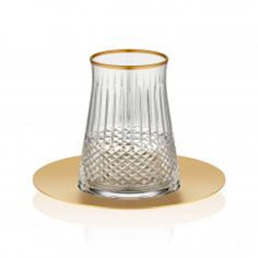 Rumeli Tea Sets TARABYA BRIGHT STEEL TEA ST 6 PIECE ELEGANT