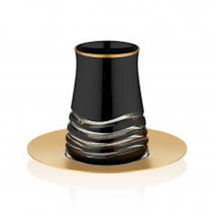 Rumeli Tea Sets TARABYA MAT BLACK STEEL TEA ST 6 PIECE PRAG