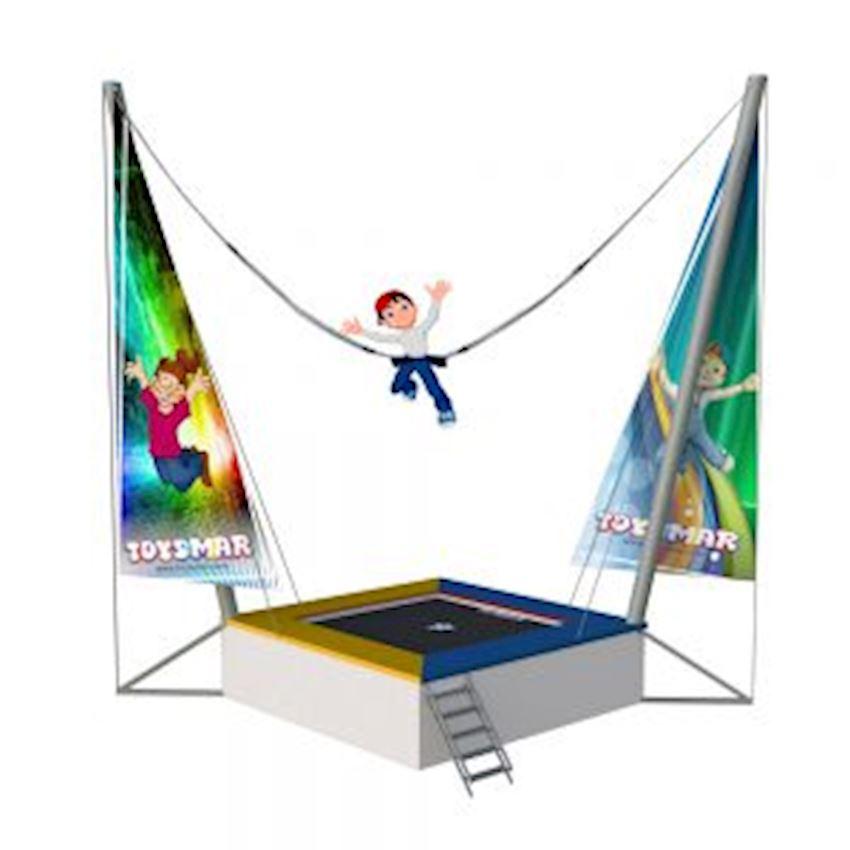 Salto Trampoline 1 Person Classic Square Model Amusement Park