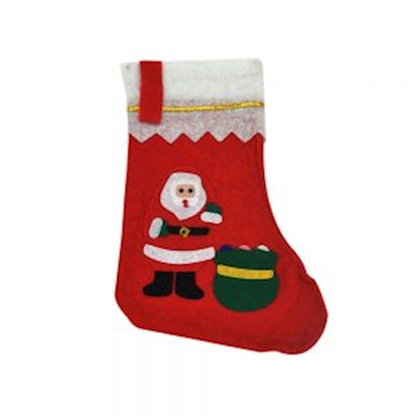 Santa Claus Gift Socks Red 35cm Christmas Decoration Supplies