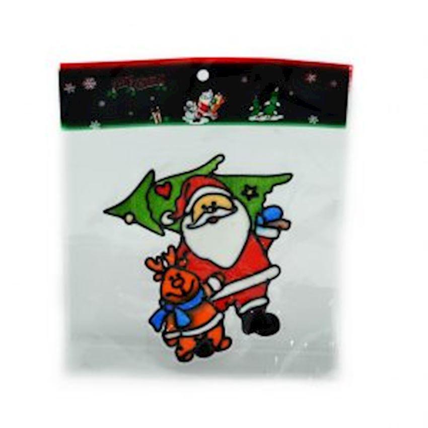 Santa Claus Window Sticker Christmas Ornament Christmas Decoration Supplies