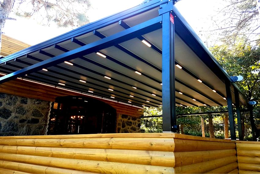 Shade Equipment Motorized Pergola Awning 5