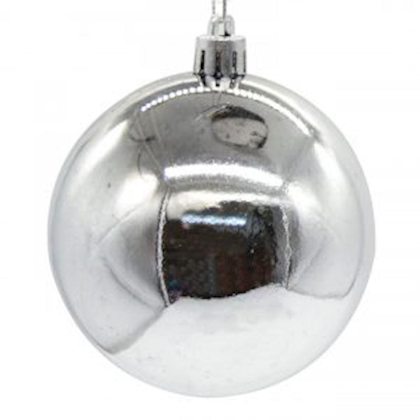 Shiny Cici Top Ceiling Ornament Silver 25cm Christmas Decoration Supplies