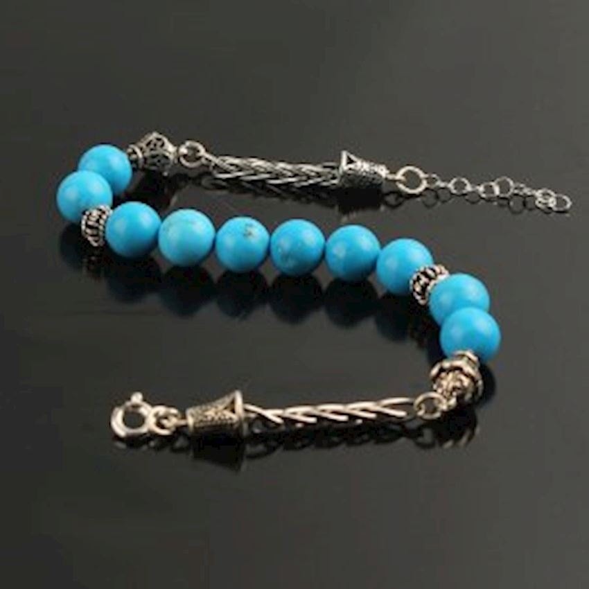 Silver Chain Turquoise 925 Sterling Bracelet