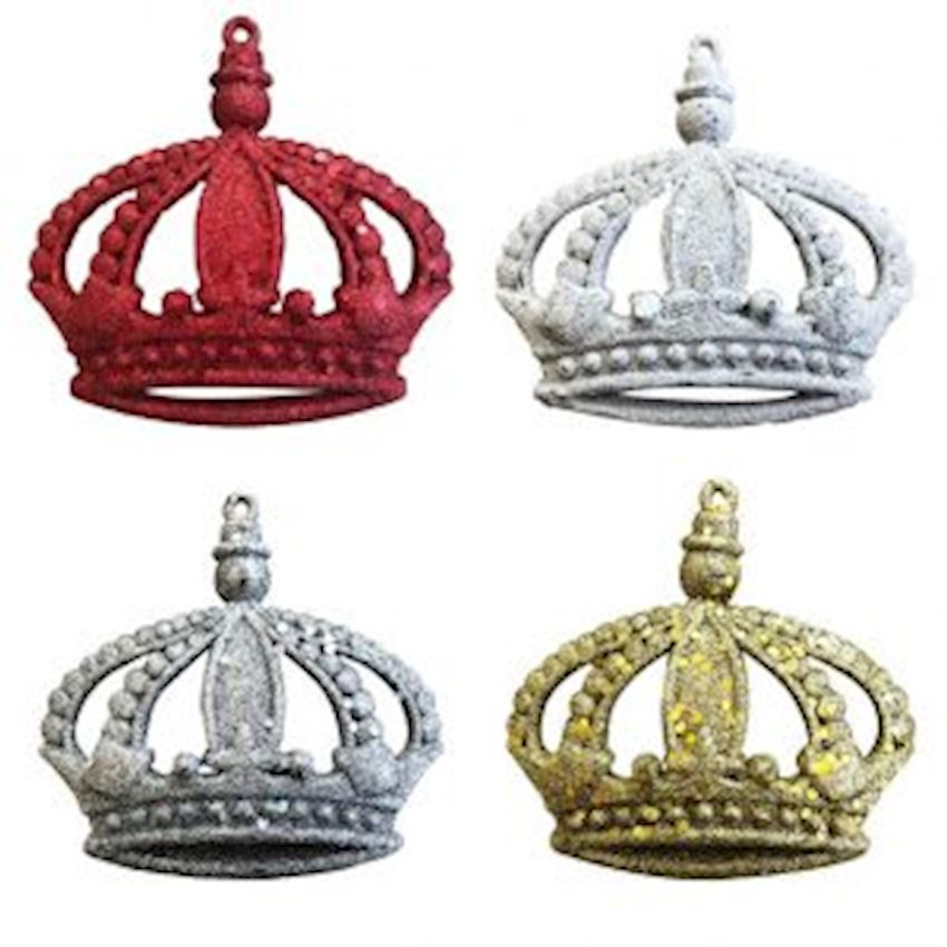 Silvery Crown Decoration Material Christmas Decoration Supplies