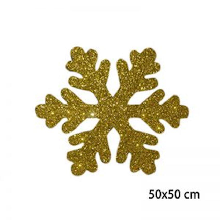Silvery Foam Snowflake Gold 50cm Christmas Decoration Supplies