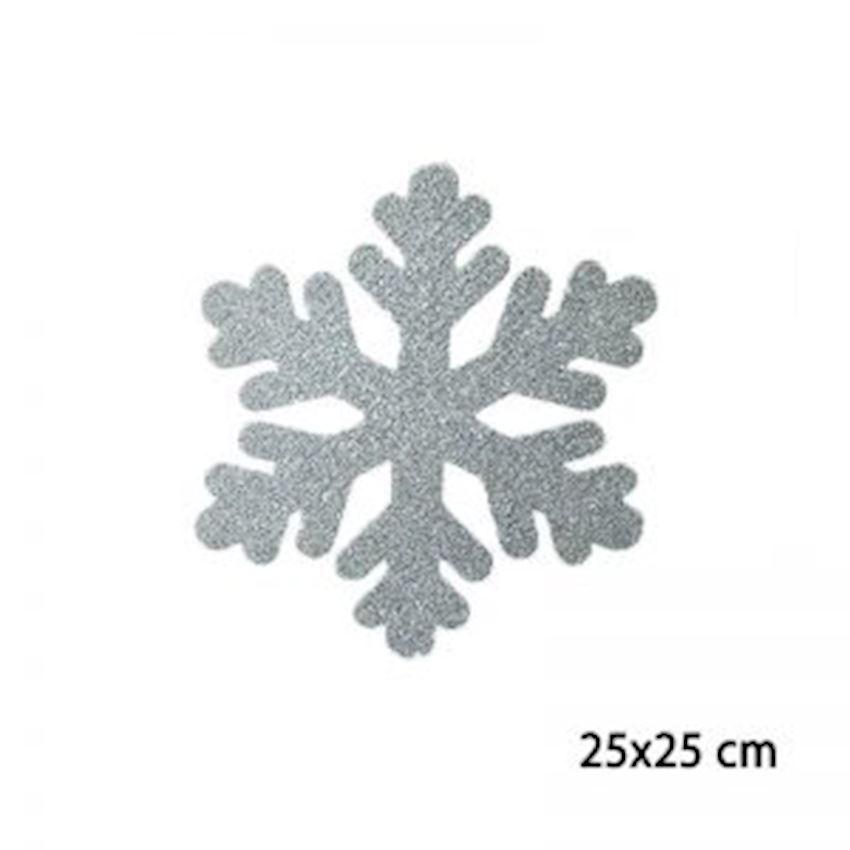 Silvery Foam Snowflake Silver 25x25cm Christmas Decoration Supplies