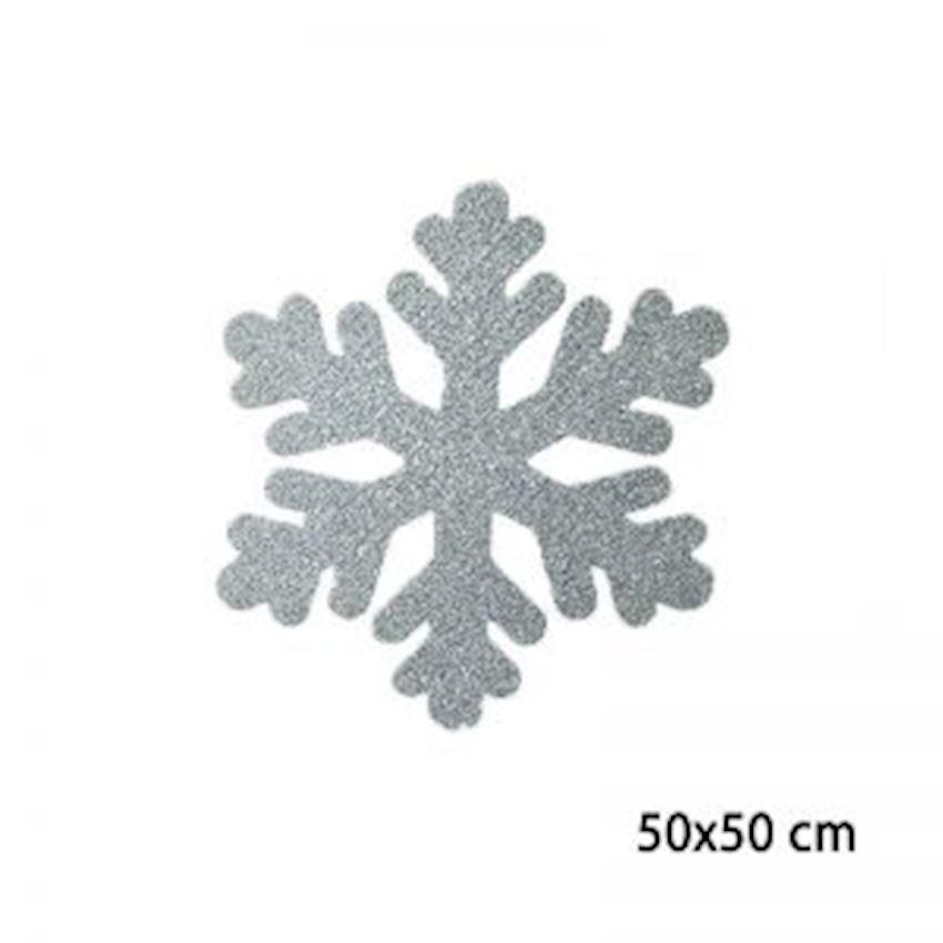 Silvery Foam Snowflake Silver 50cm Christmas Decoration Supplies