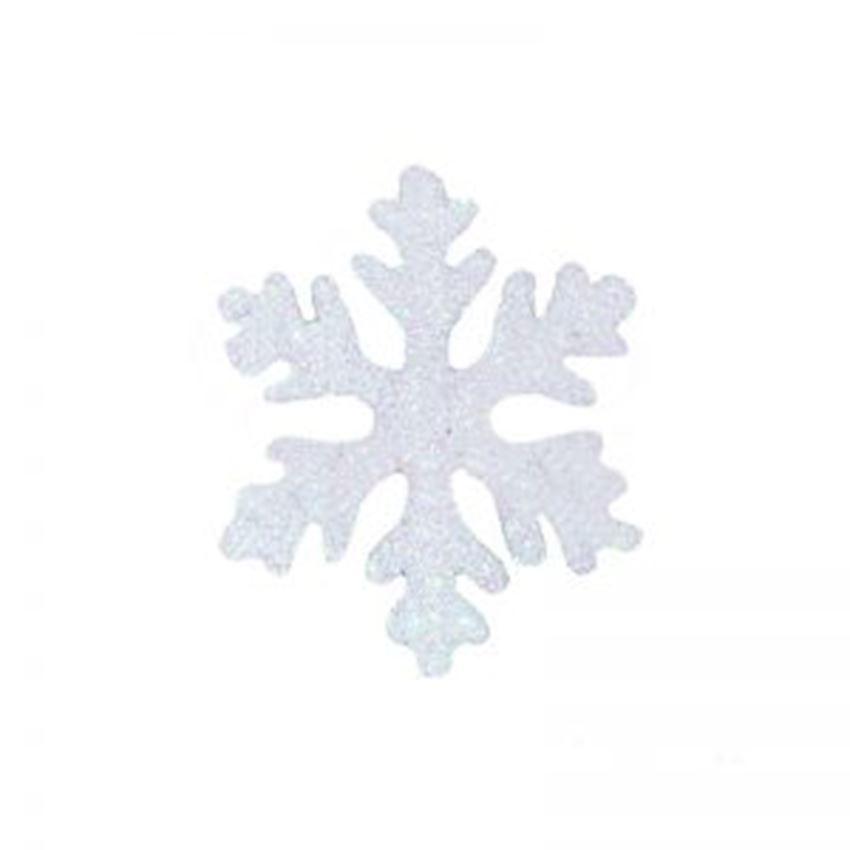 Silvery Foam Snowflake White 25x25cm Christmas Decoration Supplies