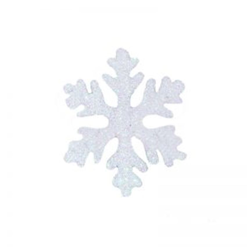 Silvery Foam Snowflake White 50cm Christmas Decoration Supplies