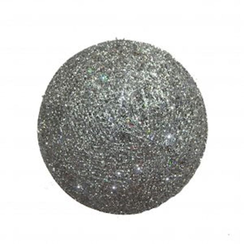 Silvery Metal Wire Ball Christmas Ceiling Ornament Silver 50cm Christmas Decoration Supplies
