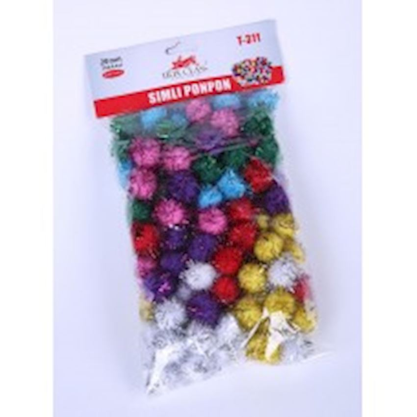 Silvery Pompom - 100 Pieces Other Office & School Supplies
