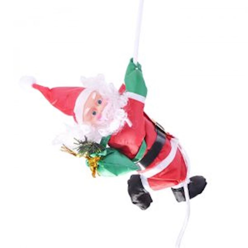 Single Hanging Climbing Santa Claus Ceiling Ornament Christmas Decoration Supplies