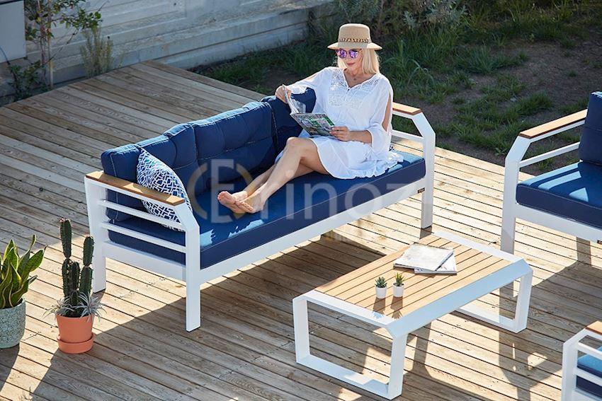 SITTING GROUP-assento sitting group-ASSENTO Aluminum Seating Group-Aluminum Body, Iroko Wood