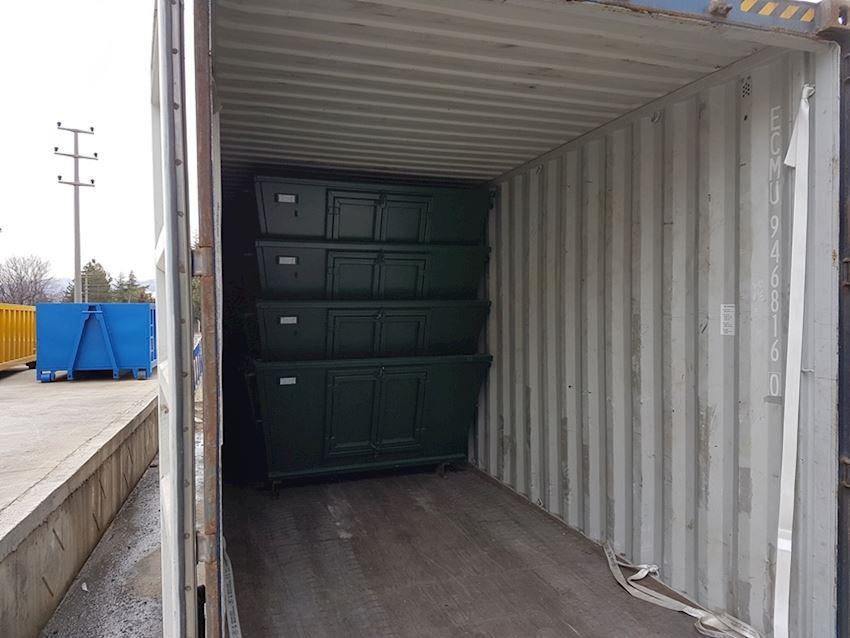 skips loading in 40ft hc