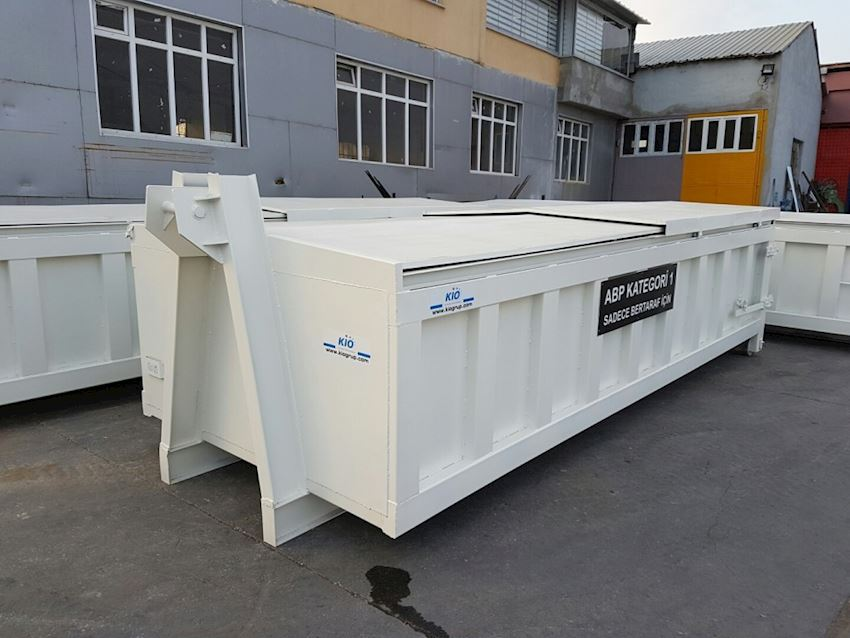 sliding top covers model roll off containers