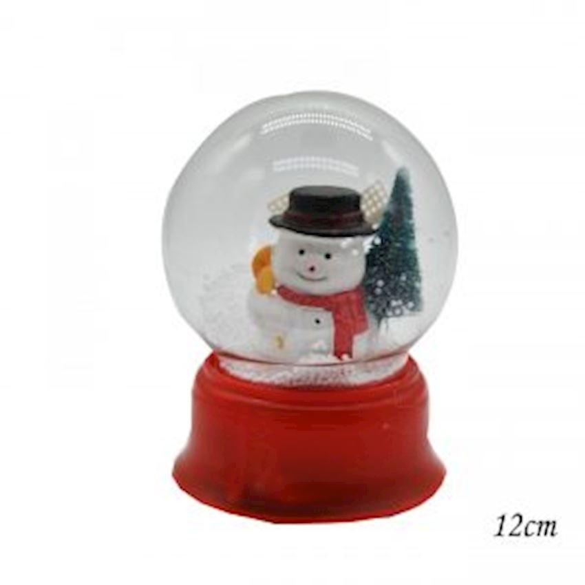 Small Size Snowman Musical Snow Globe 11x8cm Christmas Decoration Supplies