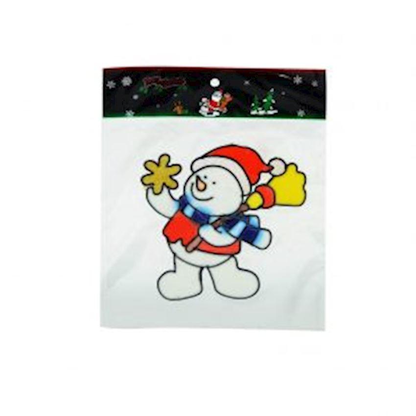 Snowman Window Sticker Christmas Ornament Christmas Decoration Supplies