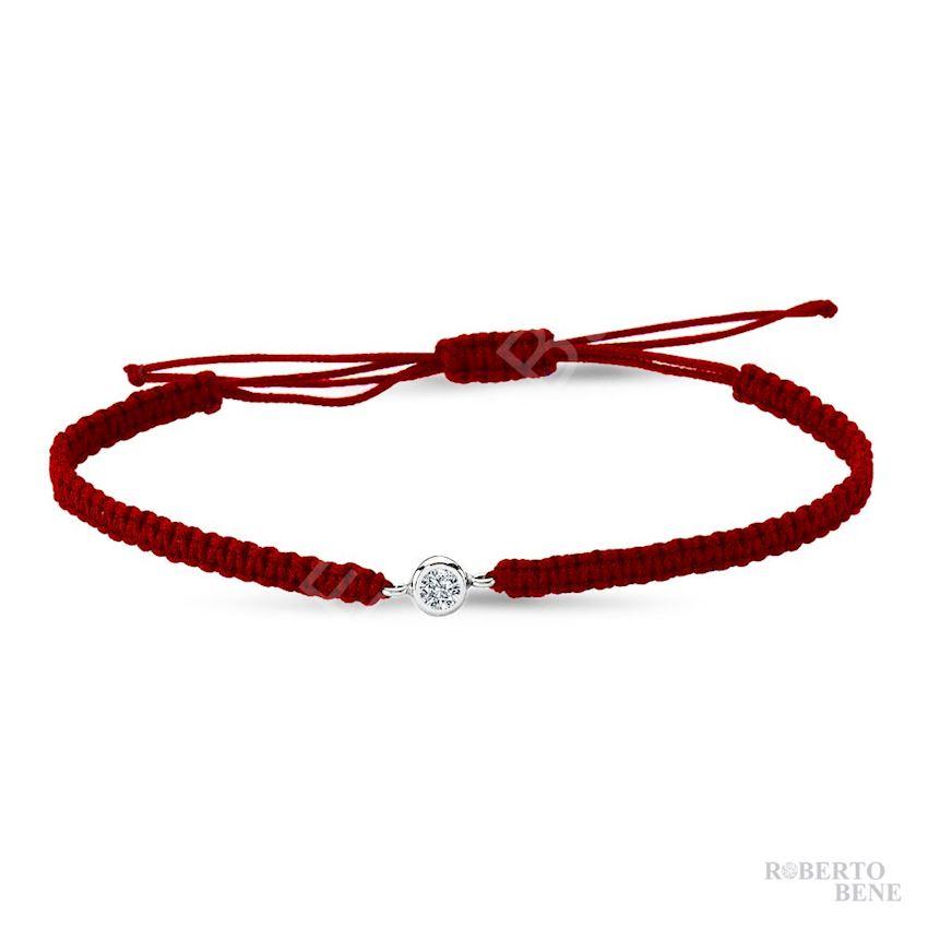 Solitaire Diamond Rope Bracelet | Roberto Bene