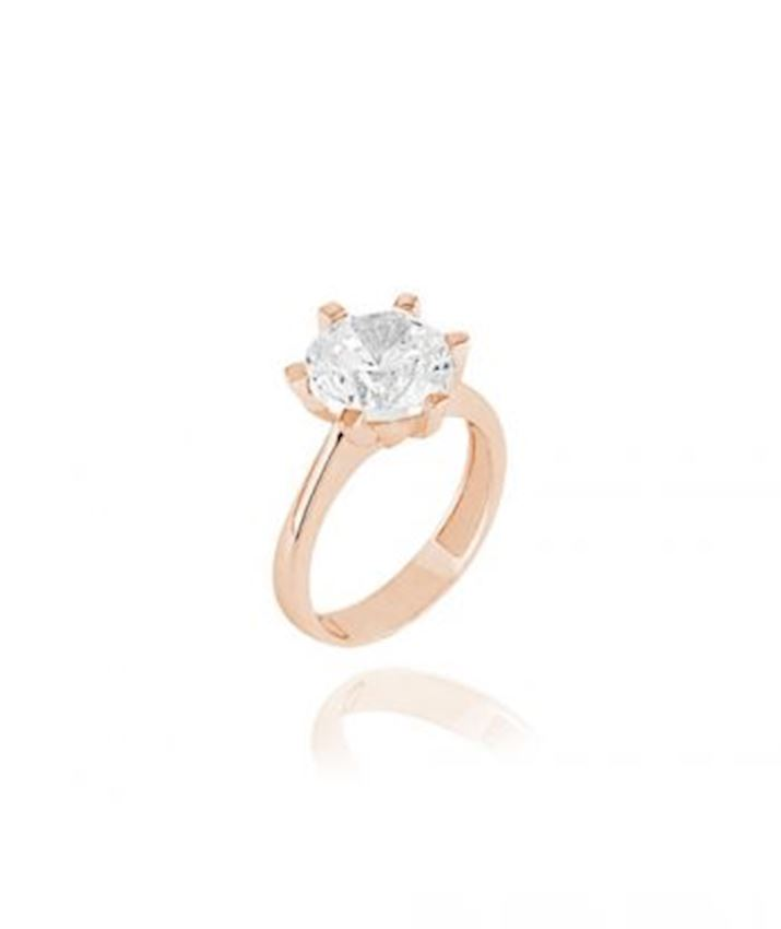 Solitaire Engagement Ring, Clear