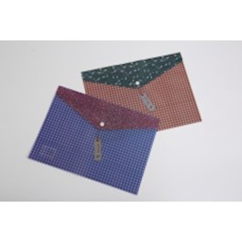Square Patterned Snaps File File Folder Accessories