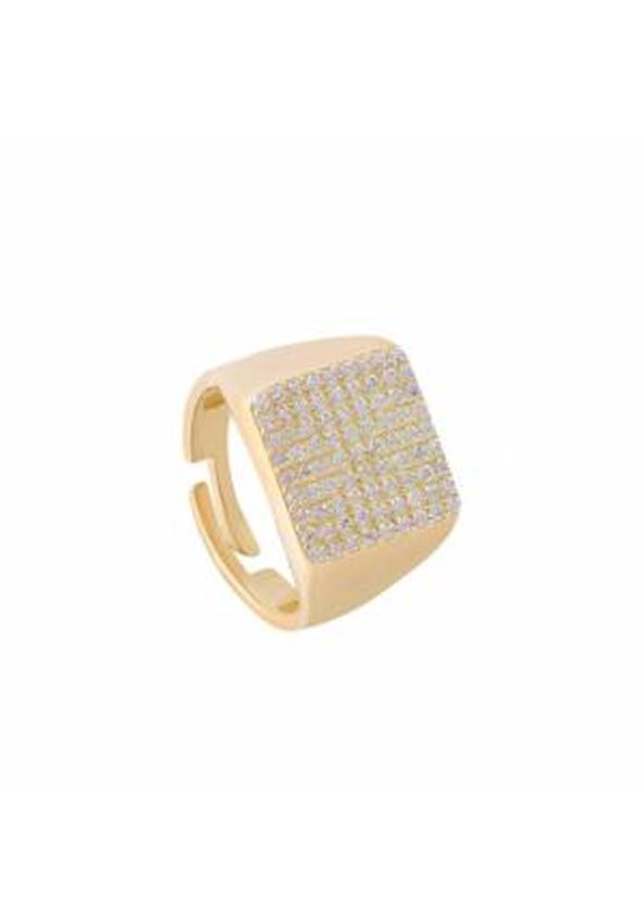 Square Sparrow Finger Ring Gold