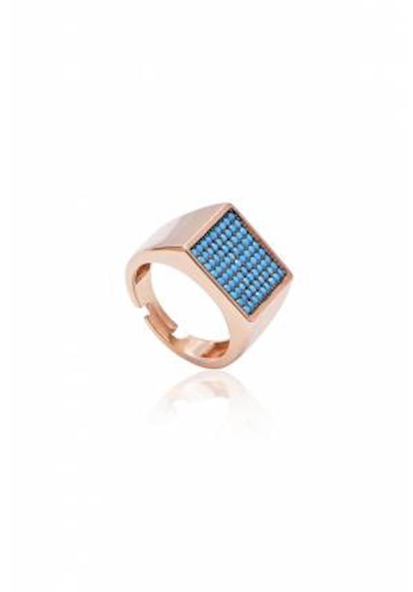 Square Turquoise Sterling Silver Ring