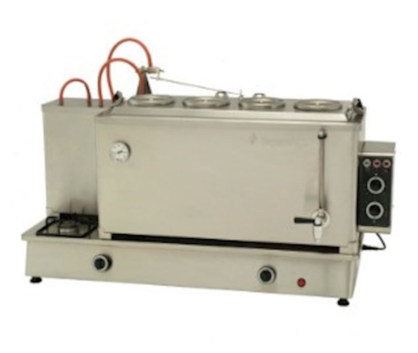 STAINLESS STEEL AUTOMATIC BOILER WITH 4 TEAPOT