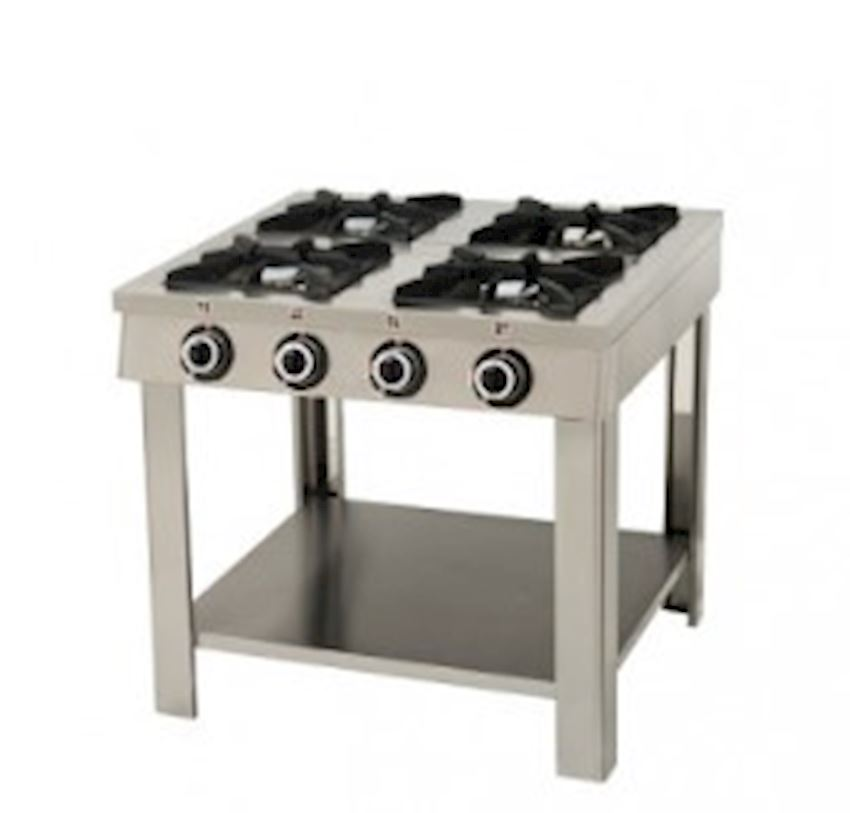STAINLESS STEEL WITH 4 FOOT COOKER 100X100 NATURAL GAS CE