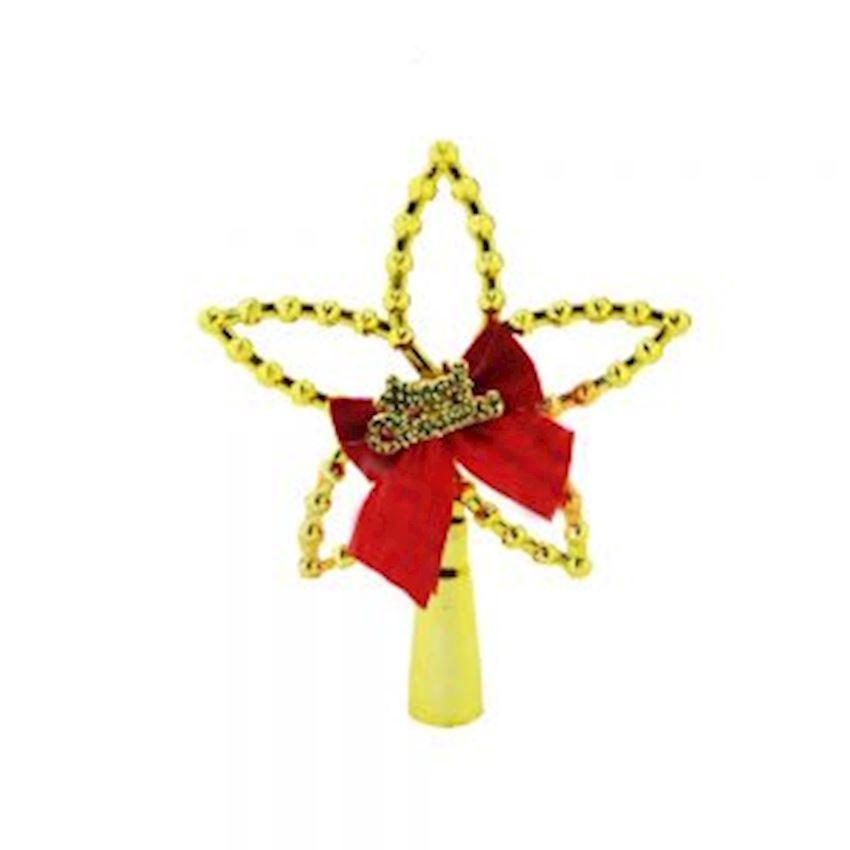 Star Christmas Tree Hill Ornament Gold 12cm Christmas Decoration Supplies