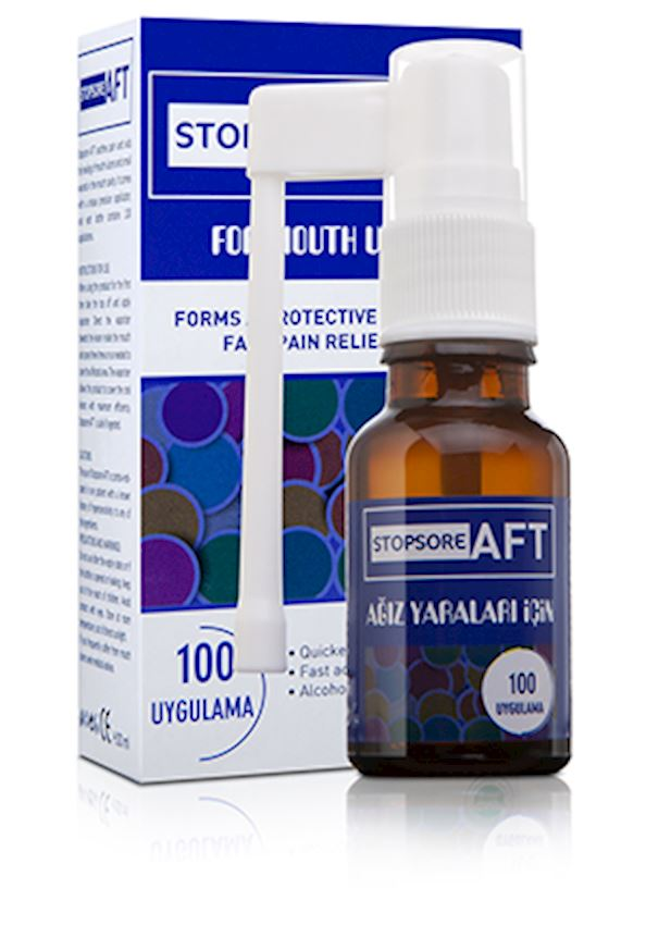 StopSore AFT Oral Wound Spray for Pain Relief