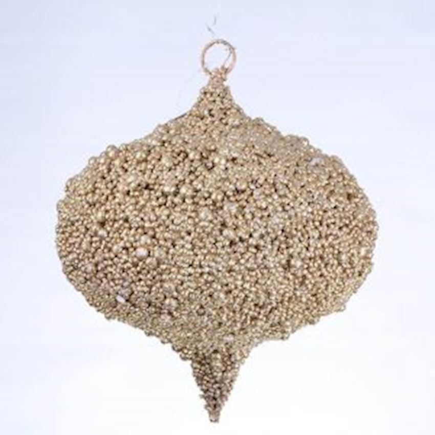 Stubby Christmas Ceiling Ornament Gold 20cm Christmas Decoration Supplies