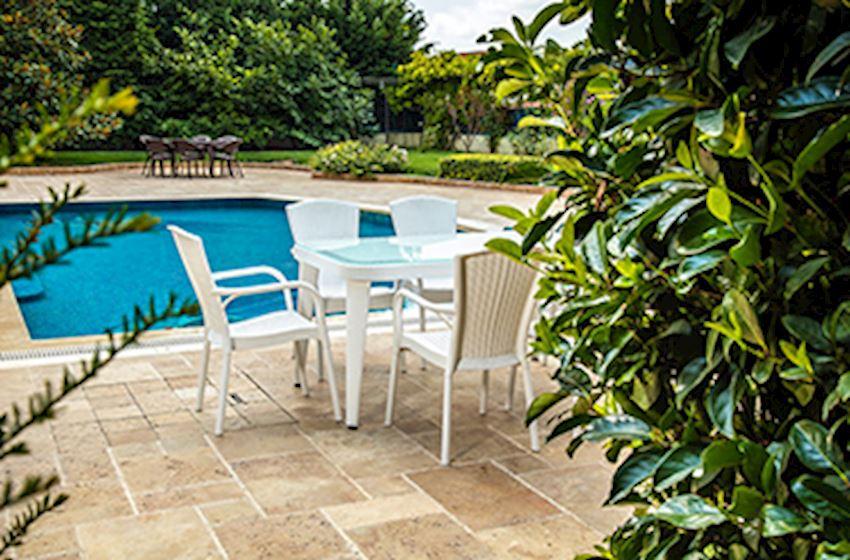 TABLE, CHAIR, DECK CHAIR-TILIA OSAKA ROYAL SET-OSAKA 90 * 150 TABLE + 6 ROYAL SEAT