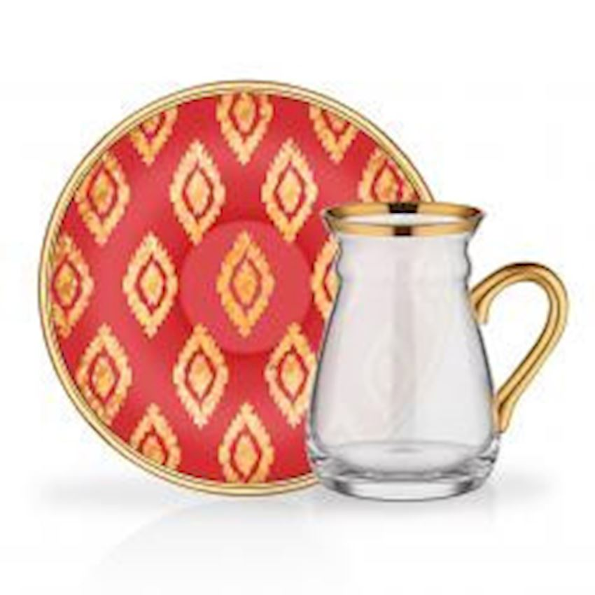 Tea Sets NIHAVENT HANDLE TEA ST 6 PIECE ANITA RED
