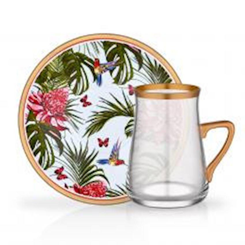 Tea Sets NIHAVENT HANDLE TEA ST 6 PIECE LEOPAR