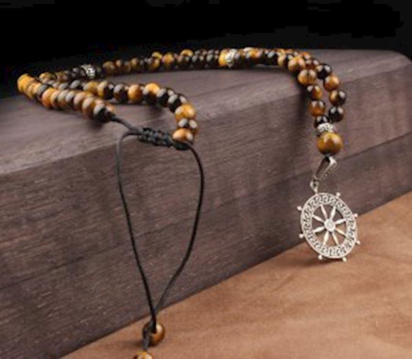 Tiger's Stone Rudder Model Natural Stone Men Necklace