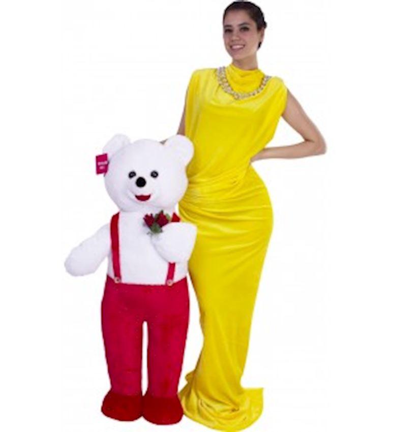 Toy Animal -PLUSH ANIMALS FLOWER HOLDING BEAR