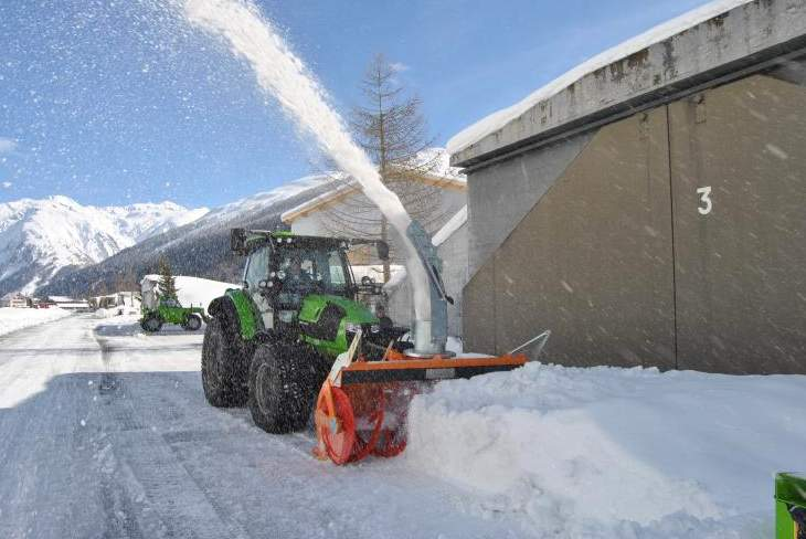 Tractor Connected Snow Removal Machine