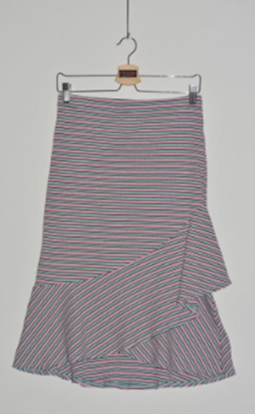 Transverse Striped Skirt