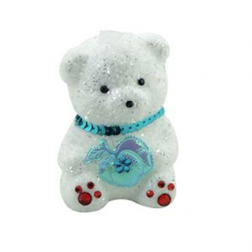 Triple Foam Teddy Bear Christmas Tree Decoration Blue Christmas Decoration Supplies