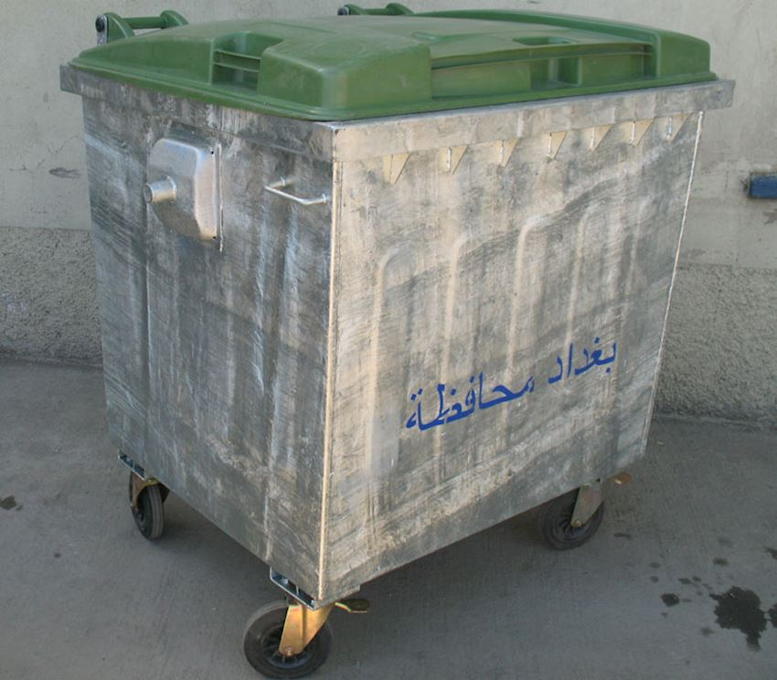 TS 1100 metal garbage bin