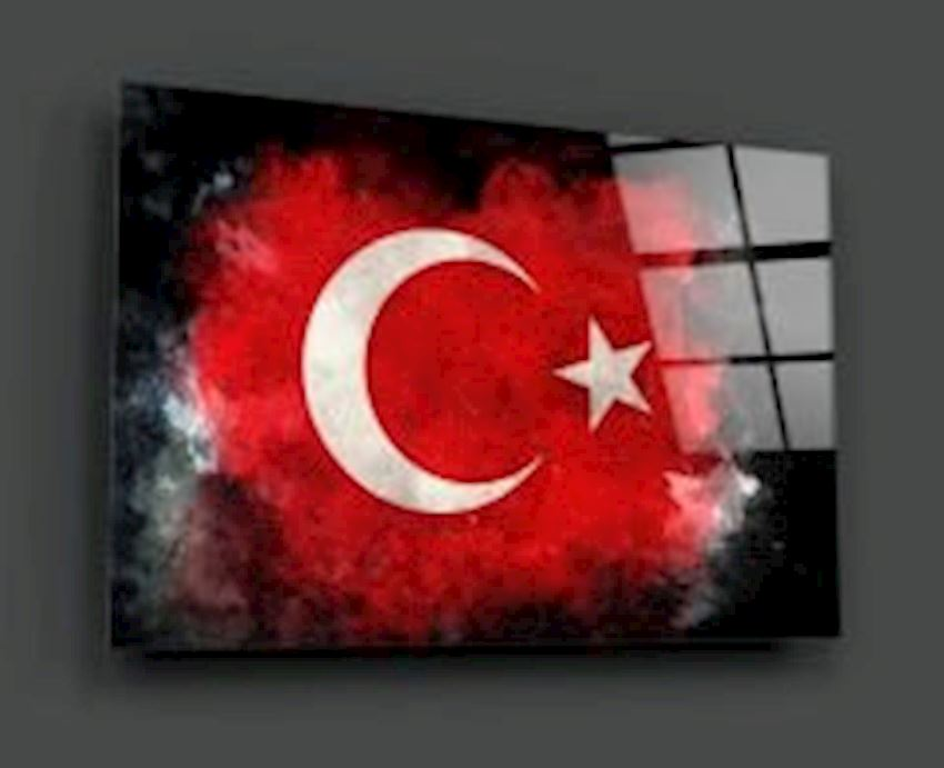 Turkish Flag Glass Table