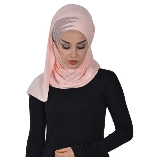 TWO COLOR PRACTICAL  COMBING SHAWL Other Women's Clothing