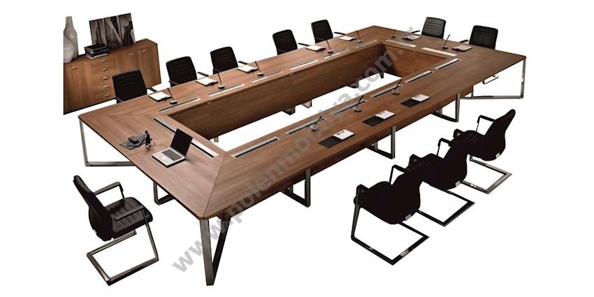 U Meeting Table for 14 people: 500x200x75h